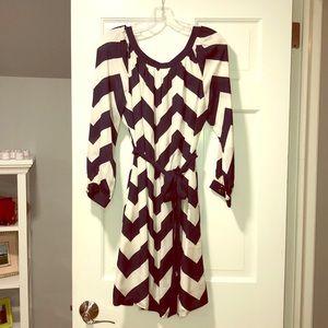 NWT Vineyard Vines 3/4 sleeve chevron dress